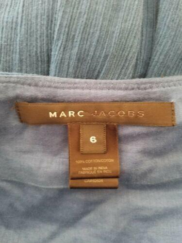 Marc Jacobs Femme 6 Jour Robe sans Manche Plissé Sweetheart Col Bleu image 6