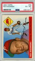 1955 Topps Ted Kazanski #46 PSA 6 P893 - $19.28