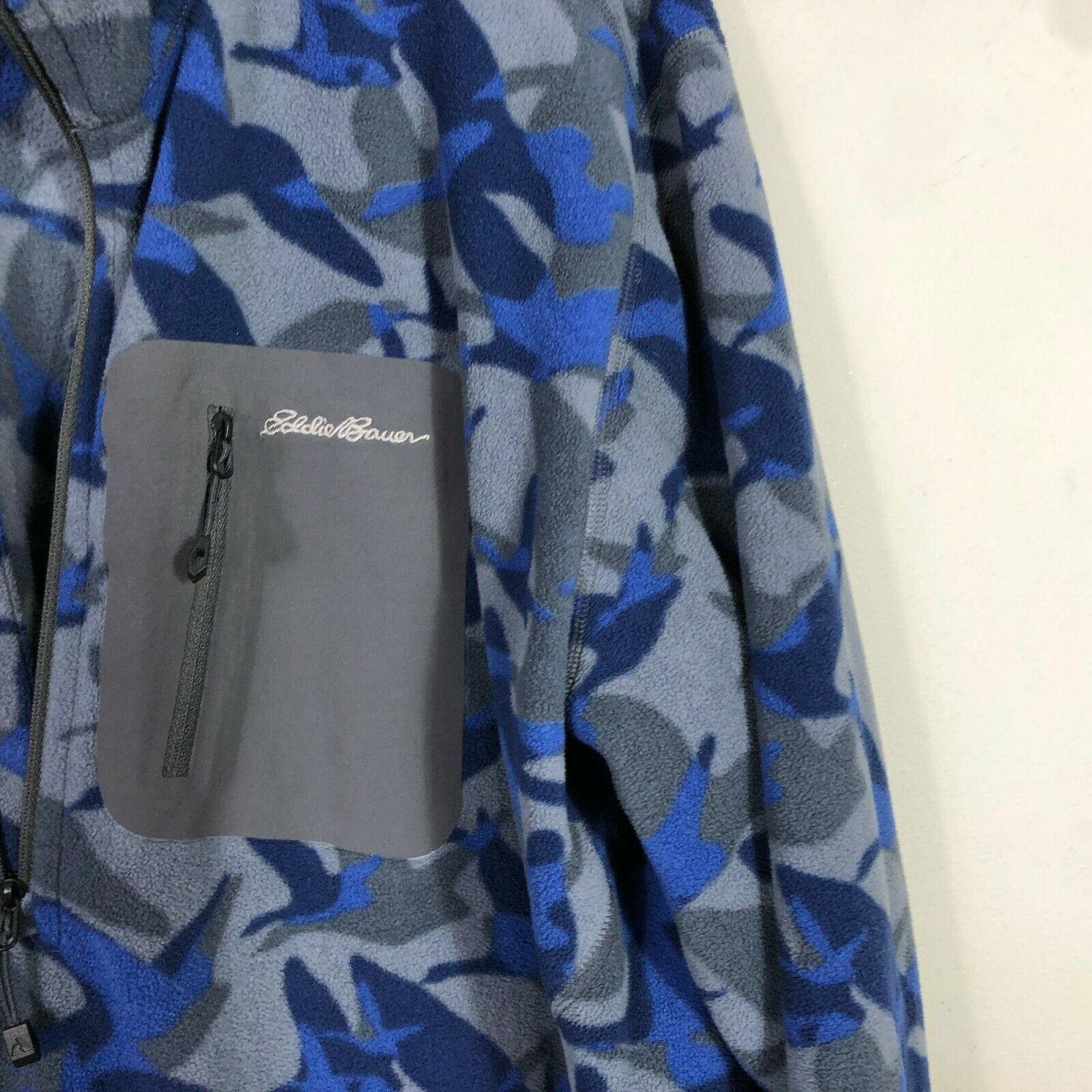 Eddie Bauer First Ascent Fleece Jacket 1/2 Zip Men's 2XL Blue Gray Long Sleeve image 3