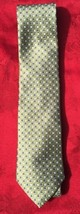 Stunning Tommy Hilfiger Silk Tie with Blue Tail Contrast W/Green & Blue ... - $16.83