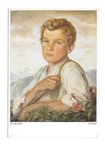 Anton Burtscher Artist Signed Painting Hirtenbub Shepherd Boy Austria Po... - $5.50