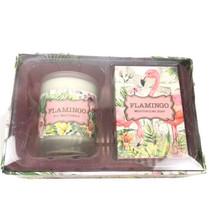 michel design works flamingo sweet osmantbus soap candle set - $14.84