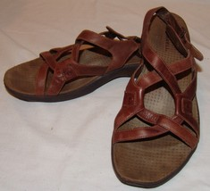 Merrell Agave Brown Leather Slingback Sandals 10 Womens Shoes - $23.58