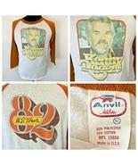 True Vintage Kenny Rogers T Shirt 1982 Concert Tour size XL Raglan Jersey S6 - $94.95