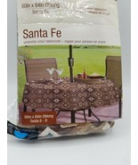 Southwestern Santa Fe Vinyl Tablecloth -  60 x 84 Oblong - $16.78