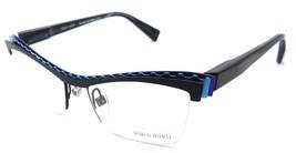 Alain Mikli Rx Eyeglasses Frames A02017 M0JB 52x17 Black / Blue Made in France - $117.60