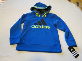 Boys youth 5 adidas AA5489 AB20 BM bright blue 439 jacket pull over coat hoodie - $37.47