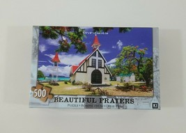 Beautiful Prayers 500 Piece Puzzle Red Roofed Church By Water NEW SEALED - $14.01