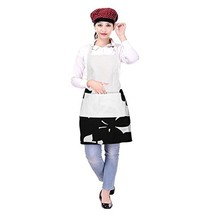 Cotton Womens Apron with Pocket Washable Multi Utility Kitchen Cooking B... - $11.45