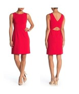 Betsy Johnson Womens Cutout Back Scuba Crepe Dress Red Sleeveless Size 1... - $26.72