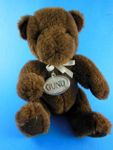 "Vintage 1989 GUND Teddy Bear Brown 7"" with GUND silver plastic tag - $7.95"