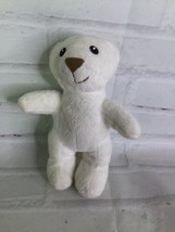 2006 Lil Luvables White Teddy Bear Plush Stuffed Toy Spin Master Fluffy Factory - $14.84