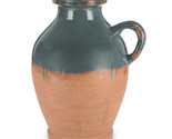 14-Inch Tall, 2-Toned Terracotta Jug with Dark Blue Dipped Artisan Finish