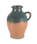 14-Inch Tall, 2-Toned Terracotta Jug with Dark Blue Dipped Artisan Finish - $69.29