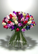 AA++: 48 pieces Wooden Roses Buds Mixed Color FAST FREE SHIPPING FROM US - $23.57
