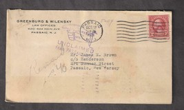 1931 UNCLAIMED Return to Writer Cover Corner card, Washington Coil #599 ... - $2.80