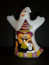 "Fenton Glass ""Whimsical Black Cats"" Halloween Ghost Figurine LE of 12 NF... - $242.02"