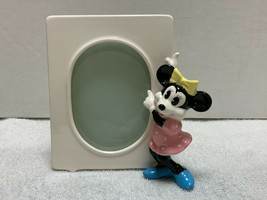 """Vintage Disney Japan Minnie Mouse Ceramic Picture Frame 3.5 x 5"""" From 1980s - $20.00"""