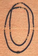 "Avon Beads Cobalt Blue Lucite Necklace 36"" Long Beaded Strand Nickel Fre... - $19.75"