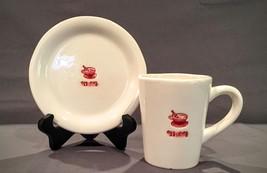 Williams Sonoma EGG NOG Mug Holiday Drinks Coffee Cup & Saucer Set - $6.99