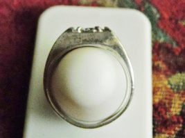 Men's Vintage UNCAS Sterling Silver Ring With Cubic Zirconia Solitare (11) image 2