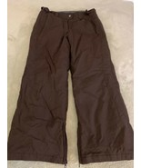 Columbia Convert Boardwear Dark Brown Ski Snowboard Pants Waterproof 14-16  - $33.87