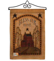 Classic Bless Our Home Burlap - Impressions Decorative Metal Wall Hanger Garden  - $33.97