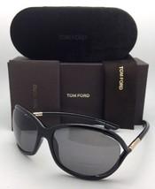 Polarized TOM FORD Sunglasses JENNIFER TF 8 01D 61-16 120 Black Frame w/ Smoke - $429.95