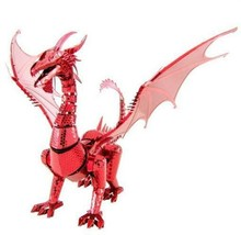 Fascinations Red Dragon ICONX Metal Earth ICX115 3D Model Kit Collection  - $26.07