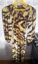 ROBERTO CAVALLI Women Silk Dress Size S 38 4 Womens Formal Tiger Dress S - £266.55 GBP