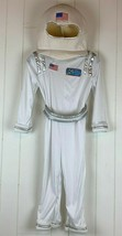 Halloween Costume Astronaut Child Medium Jumpsuit Headpiece Belt USA Space Team  - $34.60