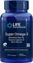 Life Extension Super Omega-3 Fish Oil EPA/DHA with Sesame Lignans Olive Extract - $25.14