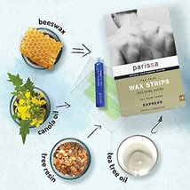Parissa Men's Wax Strips, Waxing Strips Kit for Easy Male Body Hair Removal with image 5