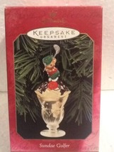 Hallmark Keepsake Ornament - Sundae Golfer - 1999 - QX6617 - $3.95