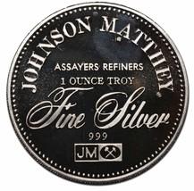 JM Johnson Matthey Freedom Of Religion 1 Ounce .999 Silver Art Round - $50.44