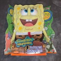New Vintage 2000 Babbling SpongeBob Squarepants Talking Plush Mattel Nic... - $60.00