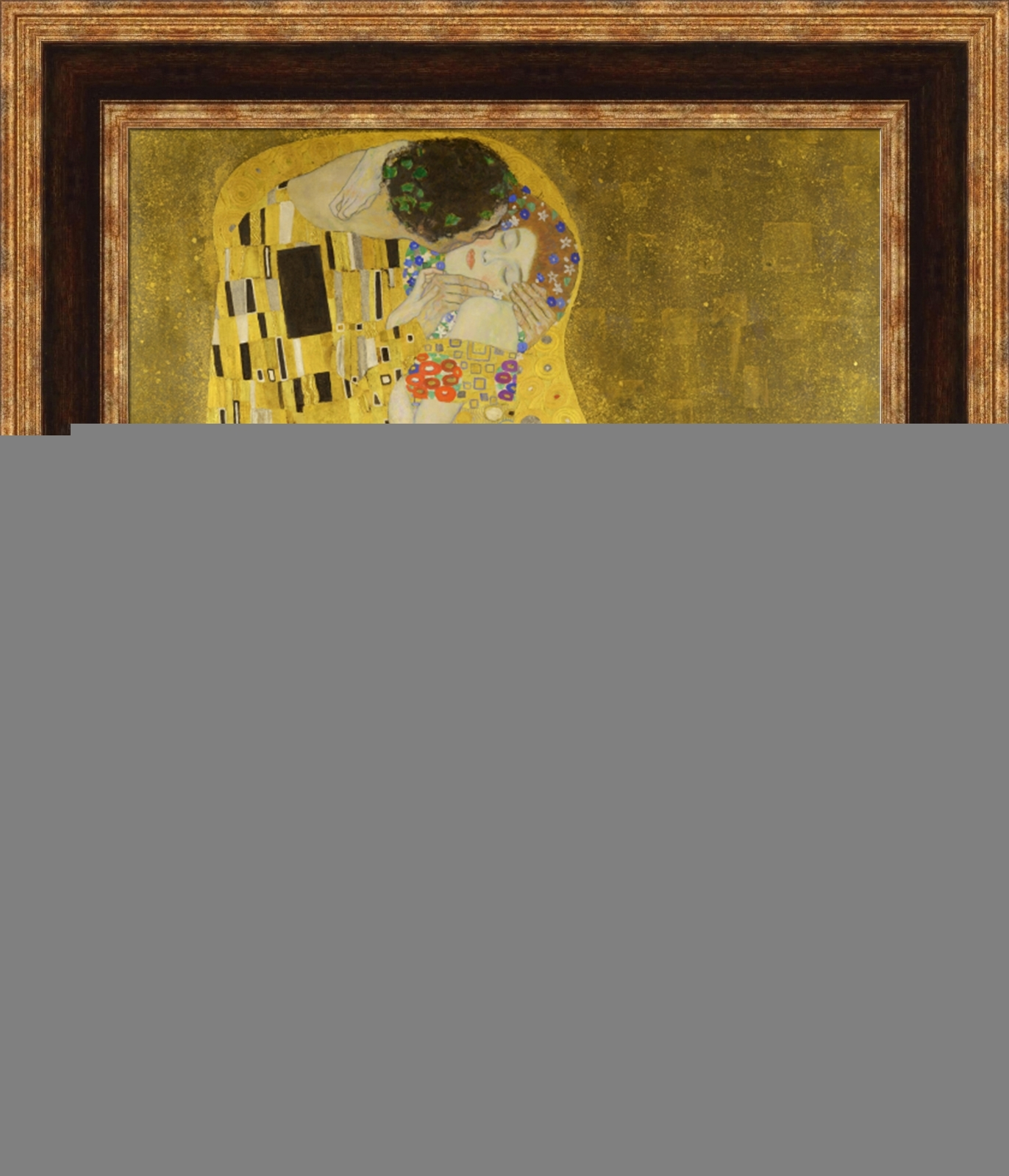 Gustav Klimt The Kiss Framed Canvas Giclee Print 23x27 (V07-12 ...