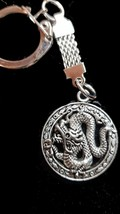 chinese dragon design flatback keyring, keychain, zip puller, keyfob on our chai