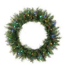 "24"""" Pre-lit Northern Pine Artificial Christmas Wreath - Multi-color Led... - ₨4,529.64 INR"