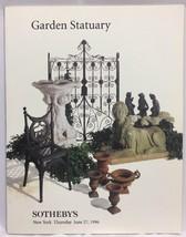 Sothebys New York GARDEN STATUARY Thursday June 27 1996 Auction Catalog - $24.18