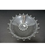 Vintage Mid Century Elegant Heisey glass tray plate marked H - $40.00