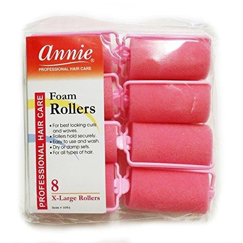 """Annie Foam Roller Size1 1/4"""" x 2 1/4"""" 8ct -1054"""