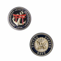 "NAVY 1.75""  CHALLENGE COIN: IWAKUNI JAPAN TORRI GATE WITH ANCHOR - $18.04"