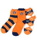 Auburn Tigers 3 Piece Fuzzy Sock Bundle - $27.95