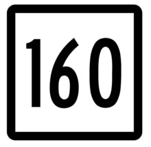 Connecticut State Highway 160 Sticker Decal R5171 Highway Route Sign - $1.45+