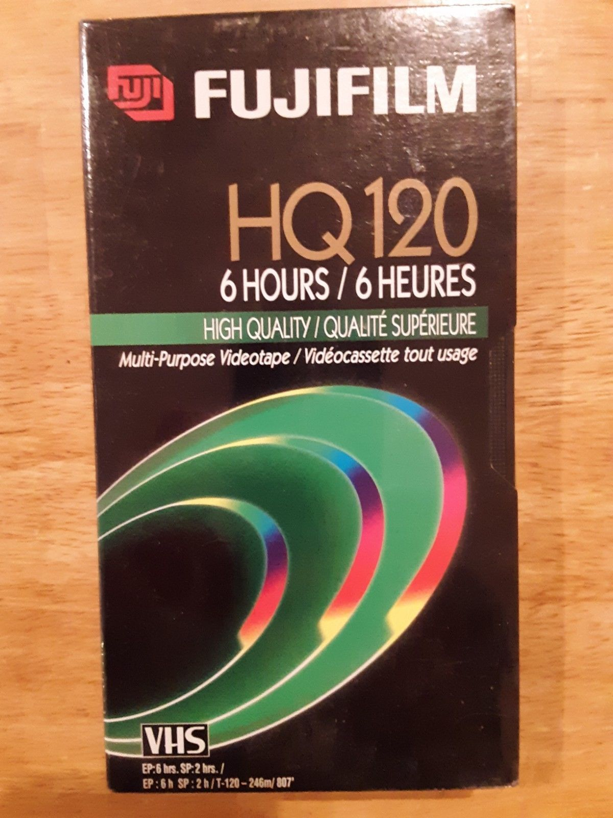 FUFIFILM T-120 High Quality VHS HQ120 Blank Tape New Sealed 6 Hours qty:2