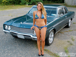 1968 buick skylark sedan hot girl 24 X 36 inch poster  - $18.99