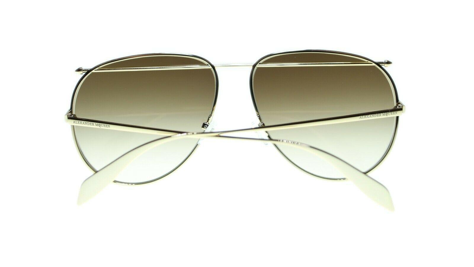 Alexander Mcqueen AM0170S 001 Unisex Metallrahmen Sonnenbrille Authentisch