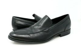 Cole Haan Air Adam Venetian Mens 9 M Black Leather Apron Toe Loafer - $47.49