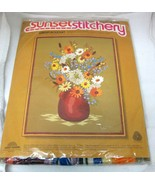 1975 MIP Sunset Stitchery Garden Bouquet 2254 Andree Palmateer New in Pa... - $36.62
